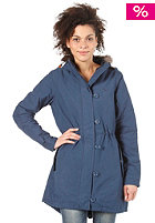 ADIDAS Womens Fur Woven Parka solid blue