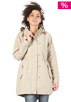 ADIDAS Womens Fur Woven Parka tech gold