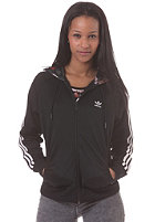 ADIDAS Womens Girly Hooded Zip Sweat black