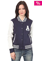 ADIDAS Womens Letterman Jacket marine/running white