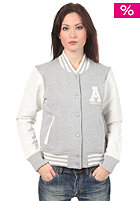 ADIDAS Womens Letterman Jacket medium grey heather/running white