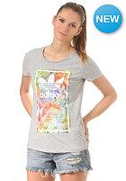 ADIDAS Womens Logo Label S/S T-Shirt medium grey heather