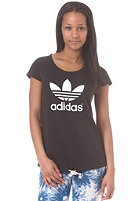 ADIDAS Womens Logo Q1 S/S T-Shirt black