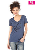 ADIDAS Womens Love S/S T-Shirt solid blue 