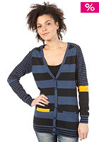 ADIDAS Womens Mixed Stripe Cardigan solid blue/black