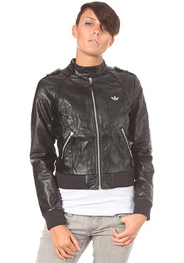 ADIDAS Womens Night Faux Leather Jacket black