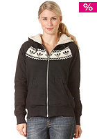 ADIDAS Womens Norwegian Track Top Hooded Zip Sweat black