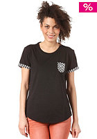 ADIDAS Womens Pocket Striped S/S T-Shirt black