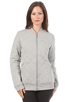 ADIDAS Womens Quilted Tracktop Jacket medium grey heather