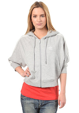 ADIDAS Womens S Crop Hooded Sweat medium grey heather