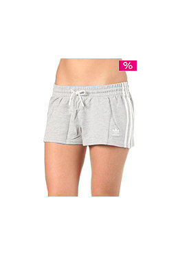 ADIDAS Womens S3 Stripe Short medium grey melange