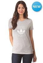 ADIDAS Womens Slim S/S T-Shirt medium grey heather