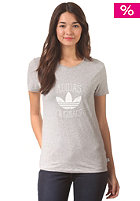 ADIDAS Womens Slim S/S T-Shirt medium grey heather
