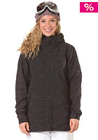 ADIDAS Womens Slub Stripe Snow Jacket black
