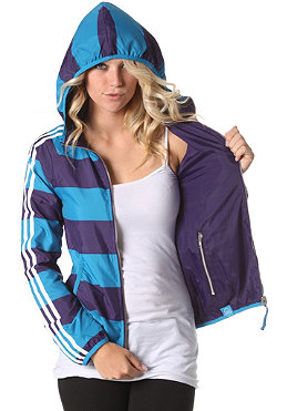 ADIDAS Womens ST Reversible Windbreaker Jacket sharp blue/eggplant