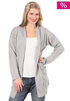 ADIDAS Womens Star Long Cardigan Sweat medium grey heather