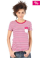 ADIDAS Womens Striped P S/S T-Shirt power pink/running white 