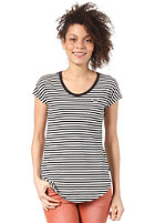ADIDAS Womens Striped S/S T-Shirt black/running white