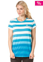 ADIDAS Womens Striped S/S T-Shirt turquoise/running white