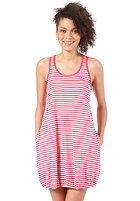 ADIDAS Womens Striped Tank Dress running white/blaze pink s13