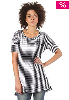 ADIDAS Womens Stripey Dress S/S T-Shirt white/black