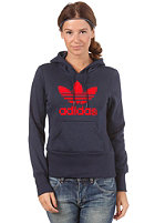 ADIDAS Womens Tre Hood Flock Sweatshirt dark navy/univerred
