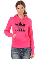 ADIDAS Womens Tre Hood Flock Sweatshirt superpink/black