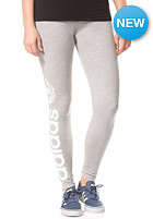 ADIDAS Womens Trefoil Leggings medium grey heather/core white