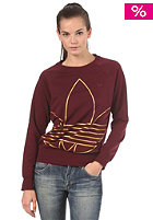ADIDAS Womens Trefoil Sweatshirt light maroon