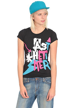 AESTHETIKER Womens New Permatag S/S T-Shirt black