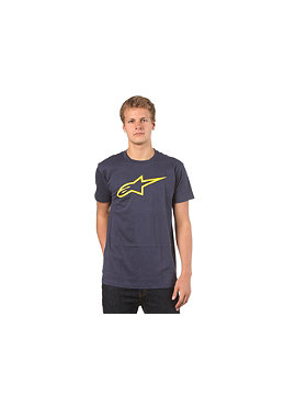 ALPINESTARS Logo S/S T-Shirt navy/yellow