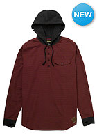 ANALOG Advent Henley Hooded Sweat burgundy