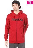 ANALOG Analogo Hooded Zip Sweat blood