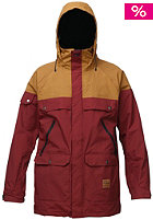 ANALOG Anthem Jacket burgundy/lthr brown