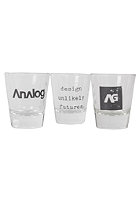 ANALOG Salute Shot Glass 3 Pack true black