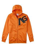 ANALOG Transpose RDBL Hooded Zip Sweat safety orange