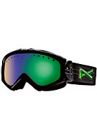 ANON Womens Majestic Goggle black suede/ green slx