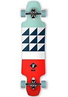 APEX Complete Longboard Alley Maple 9.5 red/white