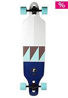 APEX Complete Longboard Esplanade Bamboo white / blue