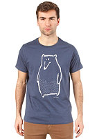 ARMEDANGELS James Peter the Bear S/S T-Shirt washed blue
