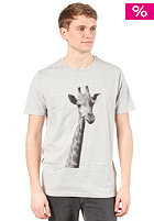 ARMEDANGELS James Pixel Giraffe S/S T-Shirt grey melange