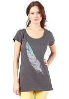 ARMEDANGELS Womens Grace Feather S/S T-Shirt acid black