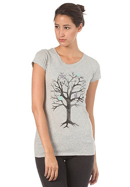 ARMEDANGELS Womens Jane Fairy Tree S/S T-Shirt grey melang