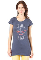 ARMEDANGELS Womens Jane Little Boat S/S T-Shirt washed blue