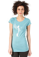 ARMEDANGELS Womens Jane Scribble S/S T-Shirt dusty turquoise