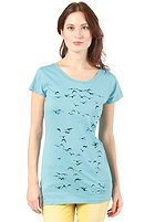 ARMEDANGELS Womens Jane Swarming Birds S/S T-Shirt dusty turquoise