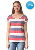 ARMEDANGELS Womens Liv Stripes S/S T-Shirt red