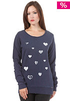 ARMEDANGELS Womens Marla Fading Hearts Sweatshirt washed blue