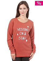 ARMEDANGELS Womens Marla Wishing On A Star Sweatshirt copper red