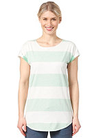 ARMEDANGELS Womens Scarlett Stripes allover S/S T-Shirt off white / soft green
